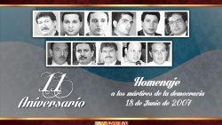 11º. aniversario de los Mártires de la Democracia