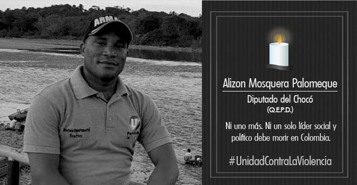 Asamblea del Valle del Cauca rechaza asesinato de Diputado Chocoano