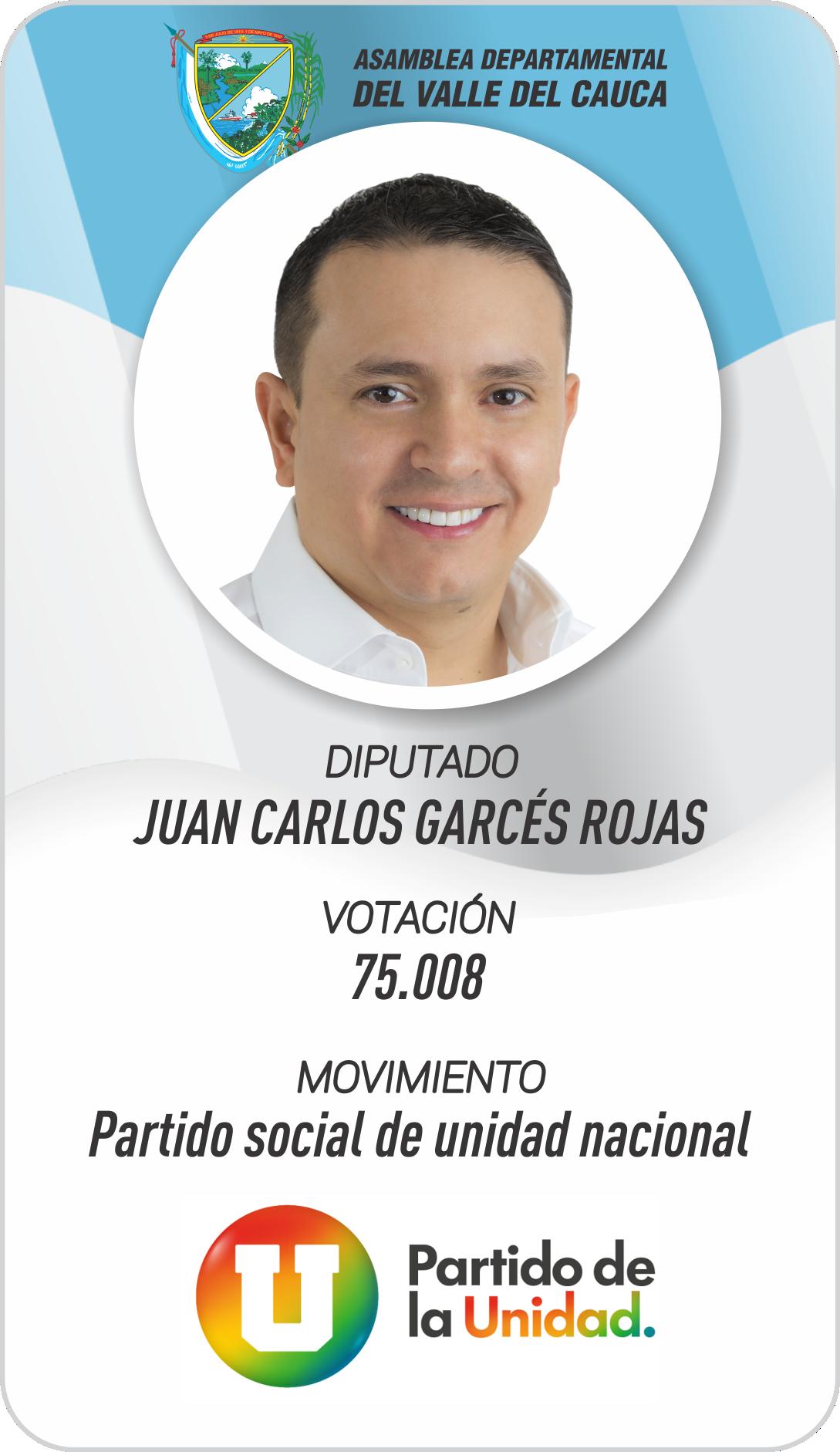JUAN CARLOS GARCÉS ROJAS Diputado del Valle 2020-2023